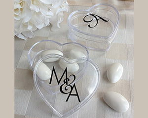 Load image into Gallery viewer, Monogram Heart Acrylic Favor Box