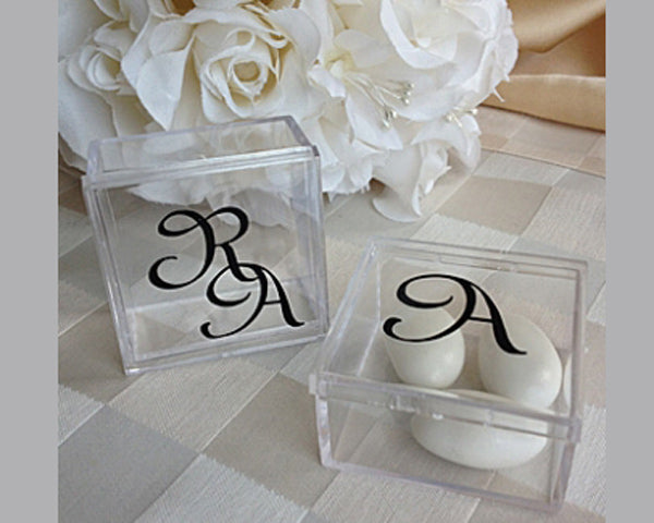 Monogram Square Acrylic Favor Box