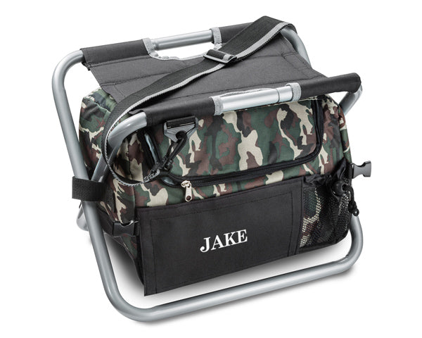 Personalized Deluxe Camouflage Sit n' Sip Cooler Seat