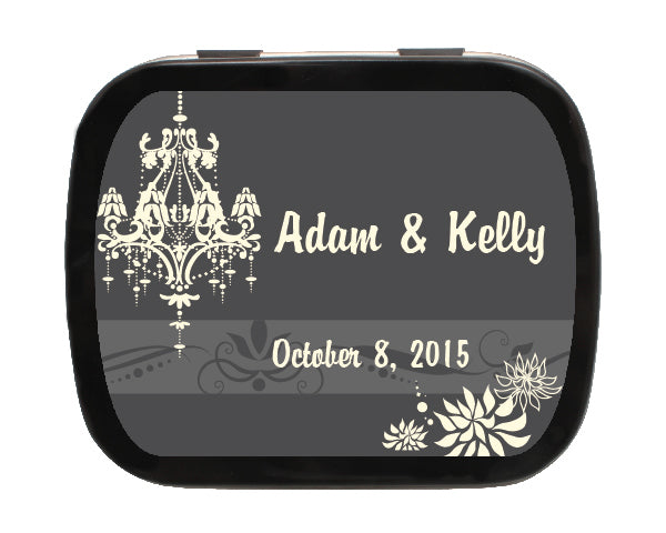 Wedding Chandelier Personalized Mint Tins