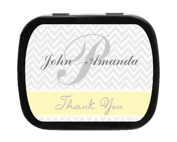 Load image into Gallery viewer, Zig Zag Personalized Wedding Mint Tins