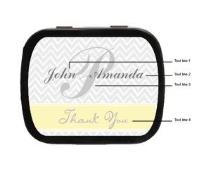 Zig Zag Personalized Wedding Mint Tins
