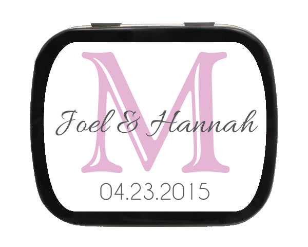 Letter Monogram Personalized Mint Tins