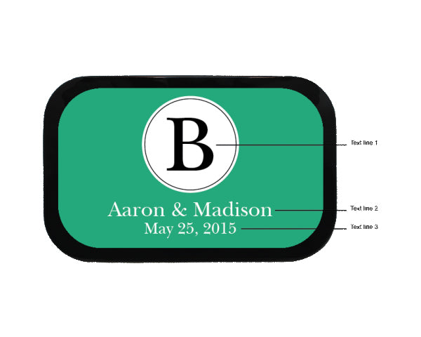 Circle Monogram Personalized Mint Tins