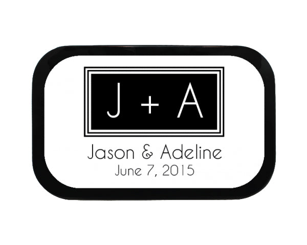 Square Monogram Personalized Mint Tins
