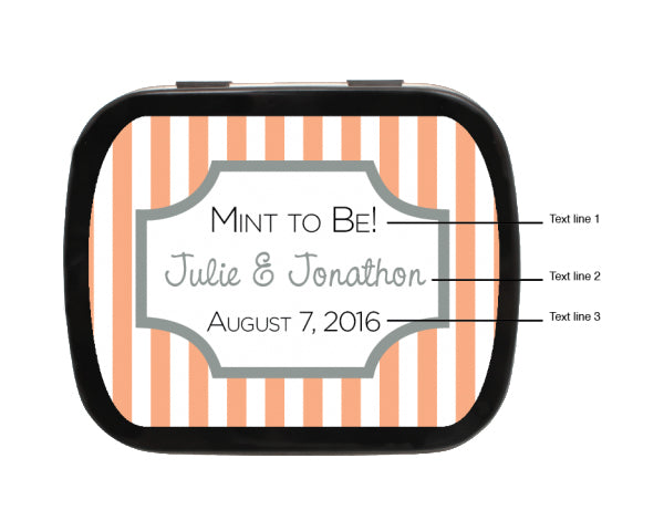 Load image into Gallery viewer, Striped Box Personalized Wedding Mint Tins