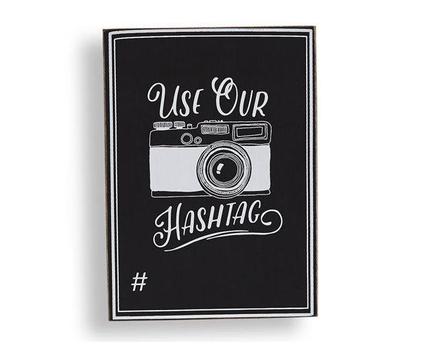 Use Our Hashtag Chalkboard Sign