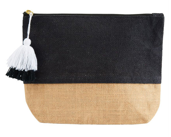 Color Pop Jute Cosmetic Bag (Personalization Available)