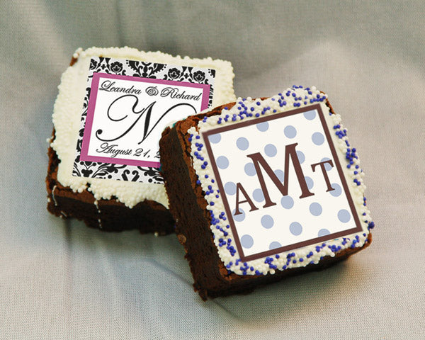 Monogrammed Brownie Favors