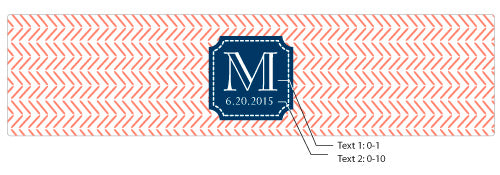 Personalized Nautical Wedding Water Bottle Labels