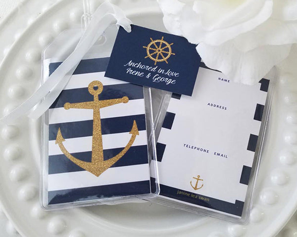 Nautical Stripe Luggage Tag (Personalization Available)