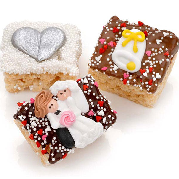 Mini Masterpieces Wedding Chocolate Dipped Mini Krispies