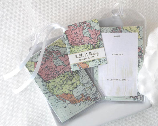 North American Pastel Luggage Tag (Personalized Gift Tag Available)