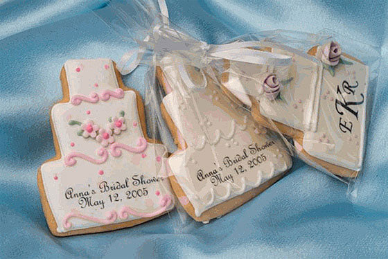 Personalized Custom Design Wedding Cake Cookies