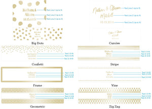 Personalized Gold Foil Water Bottle Labels