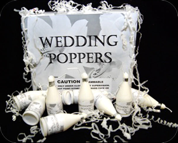 Wedding Confetti Party Poppers (144 pieces)