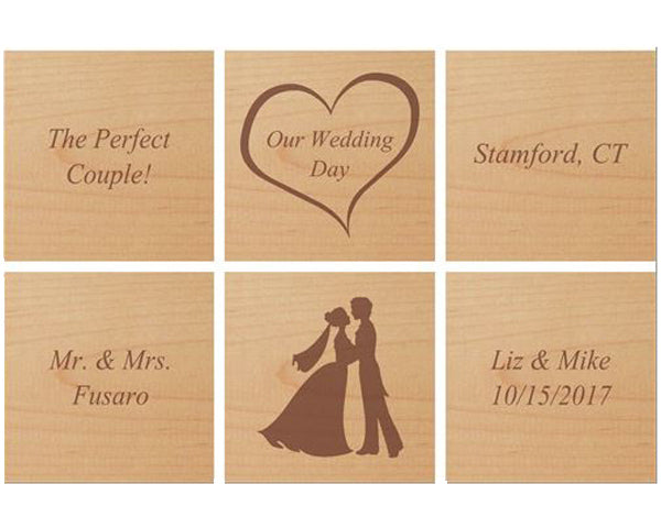 Personalized Wedding Day Gift Block