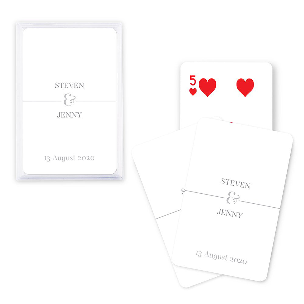 Personalized Classic Playing Cards In Plastic Case
