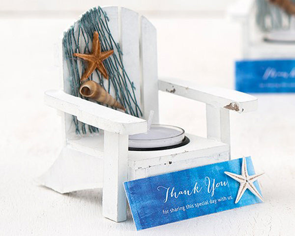 White Deck Chair Candle Holders (Set of 4)