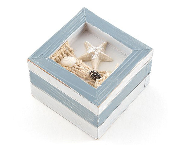 Beach Theme Wooden Trinket Boxes (Set of 12)
