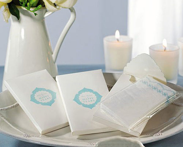 Something Blue Wedding Favor Tissues (Set of 12)