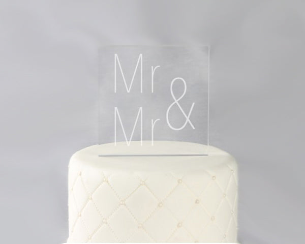 Same Sex Acrylic Cake Topper