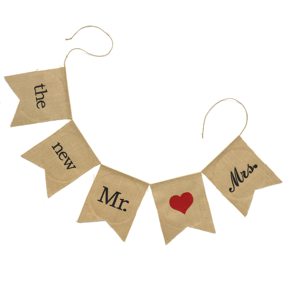 Mr. & Mrs. Burlap Banner