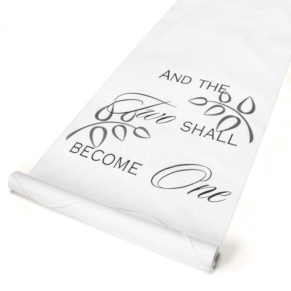 Two Shall Become One Aisle Runner (Black or White)