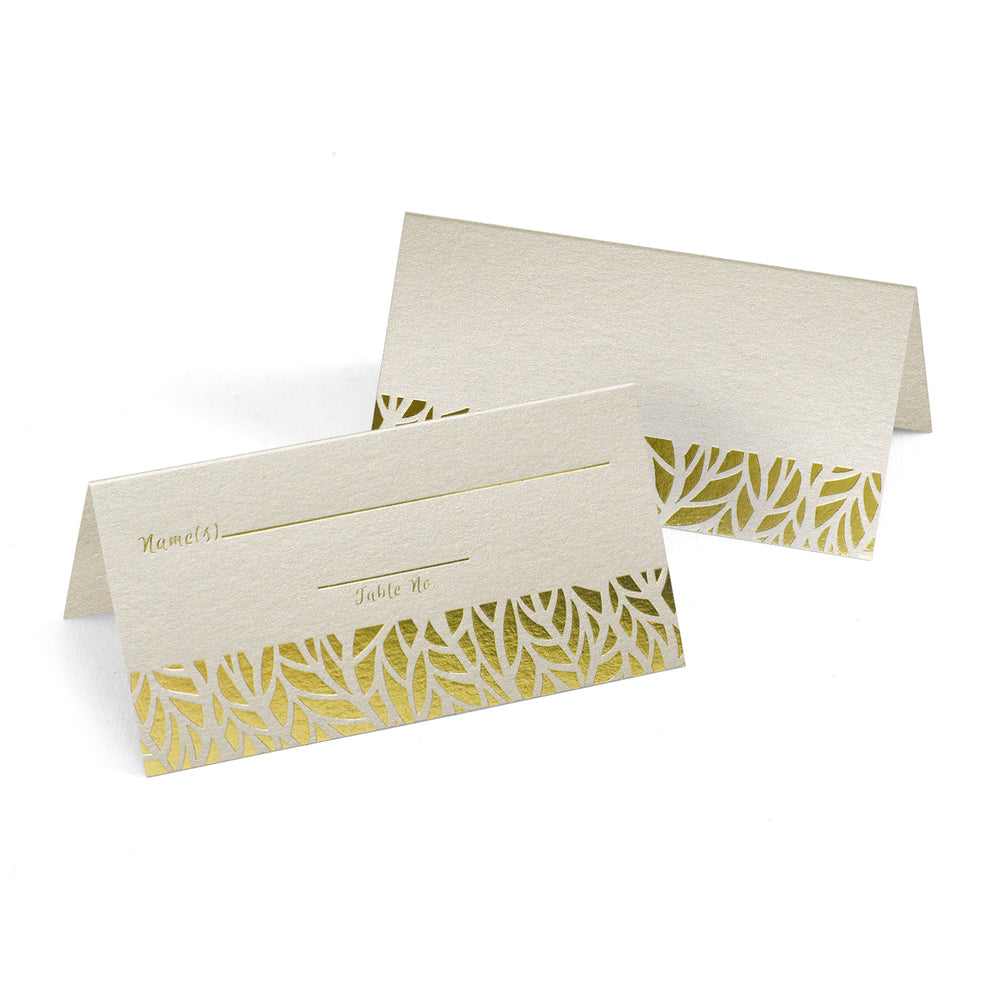 Organic Leaves Place Cards (Set of 25)