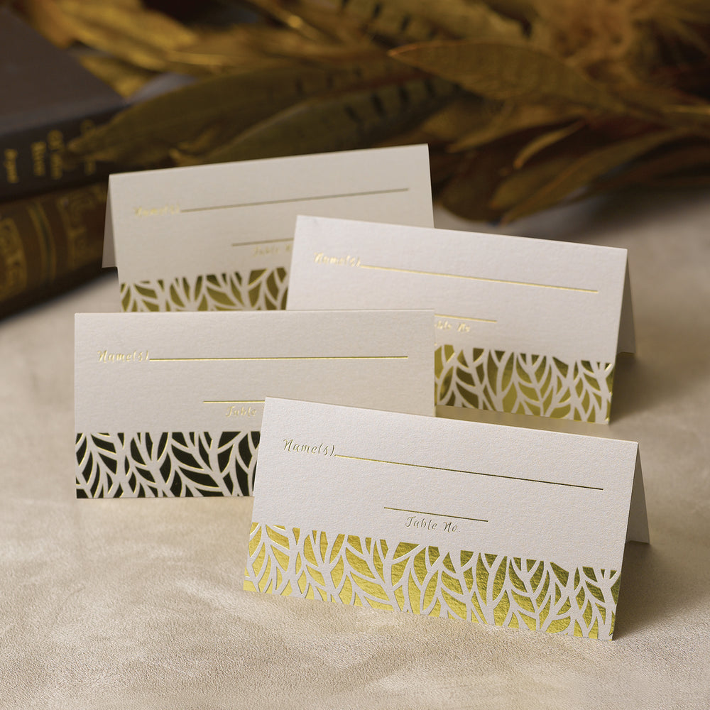 Load image into Gallery viewer, Organic Leaves Place Cards (Set of 25)