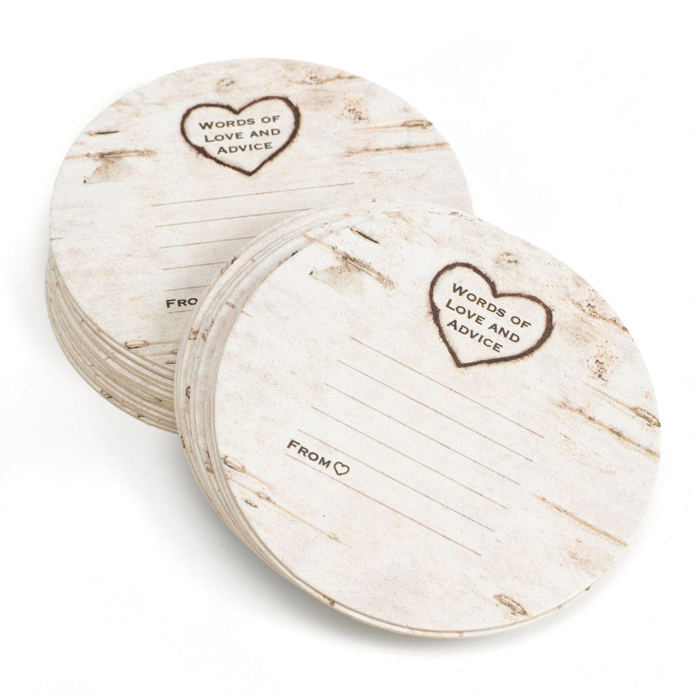 Load image into Gallery viewer, Love & Advice Woodgrain Coasters (Set of 25)