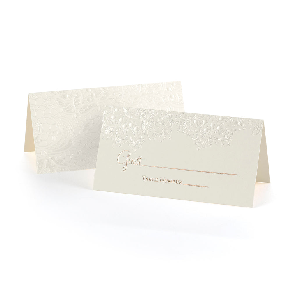 Lace Shimmers Place Cards (Set of 25)