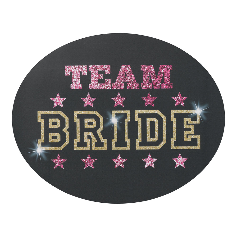 Team Bride Car Cling Sign (Set of 2)