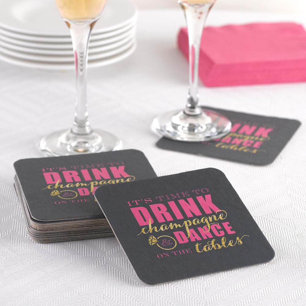 Bachelorette Party Champagne Dance Coasters (Set of 25)