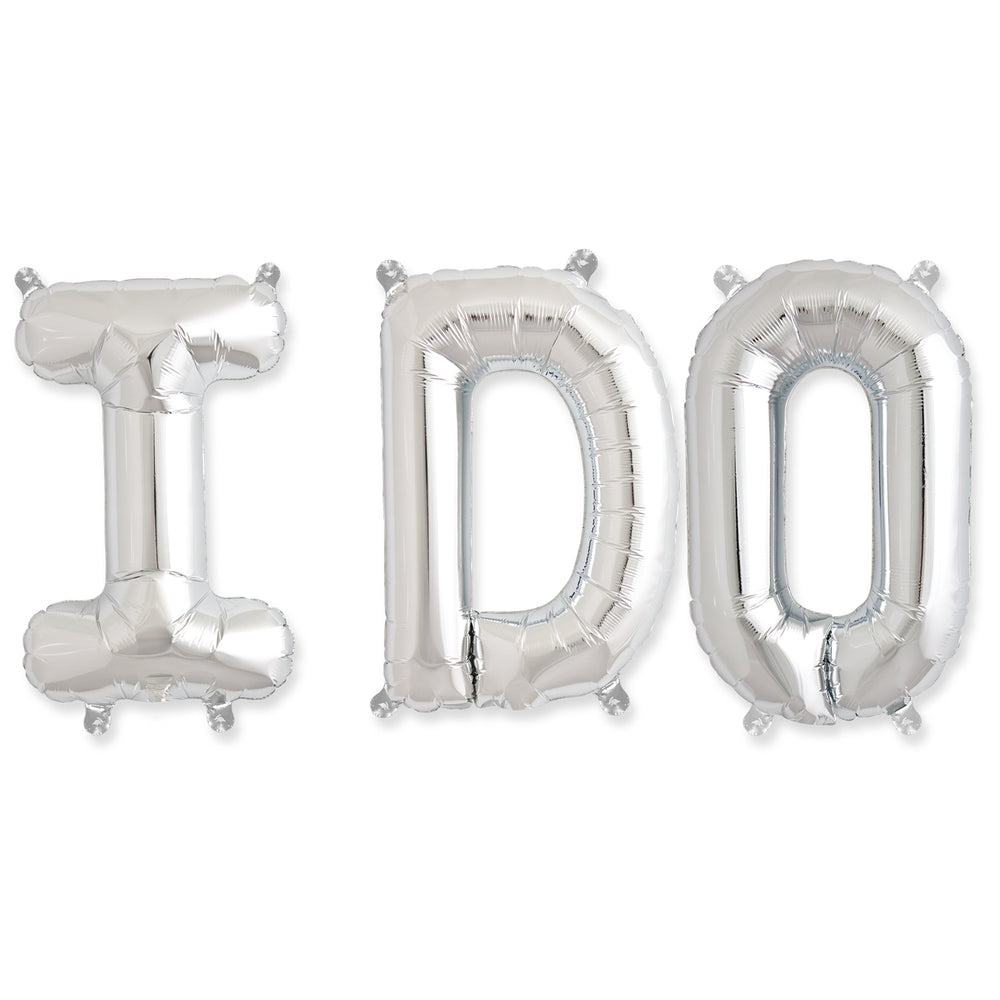 "I Do Balloon Kit - Silver (16"" Balloon)"