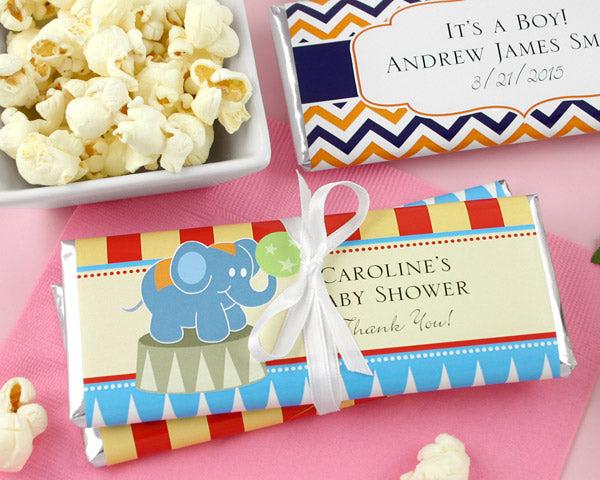 Personalized Hershey's Chocolate Bar Baby Shower Favors