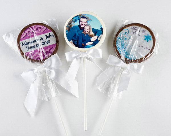 Personalized Chocolate Lollipops