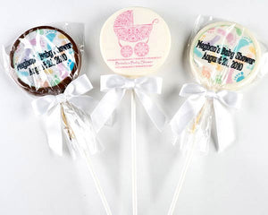 Personalized Baby Shower Themed Chocolate Lollipops