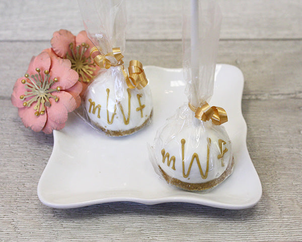 Monogram Chocolate Cake Pop Favors