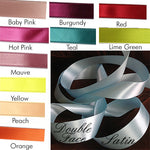 "Personalized Ribbon (Double Face Satin Pre-Cut 14"" lengths)"