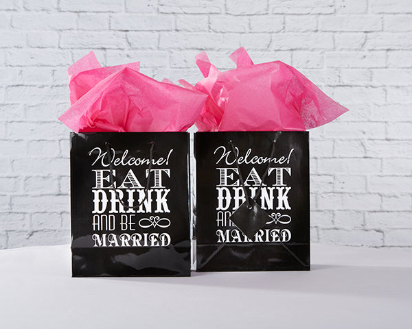 Eat, Drink & Be Married Welcome Bag (Set of 12)