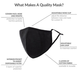 Floral Adult Protective Cloth Face Mask (Set of 12)