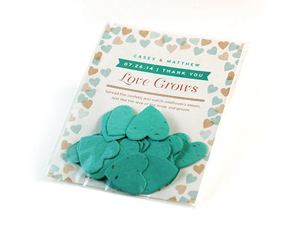 Personalized Flutter Heart Confetti Favor