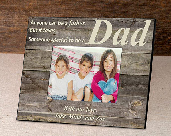 Personalized Rustic Father's Day Frame