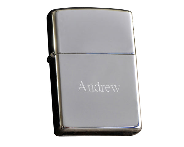 Personalized Zippo Chrome Lighter