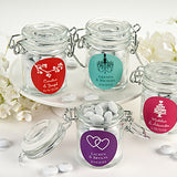 Personalized Baby Shower Glass Favor Jars (Set of 12)