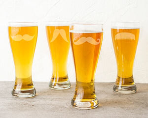 Gentleman's Mustache Pilsners (Set of 4)