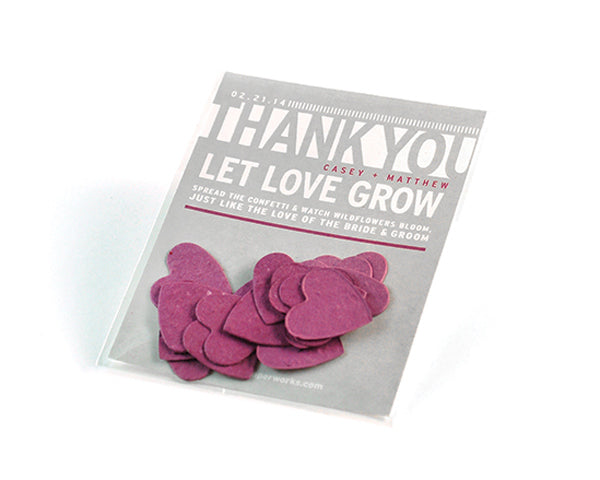 Personalized Modern Text Based Heart Confetti Favor