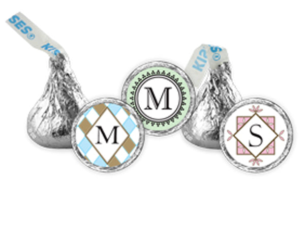Monogrammed Hershey's Kisses | My Wedding Favors