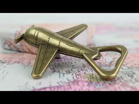 Load and play video in Gallery viewer, Let the Adventure Begin Airplane Bottle Opener